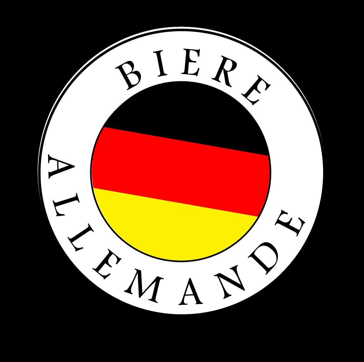 logo bière allemande incliné
